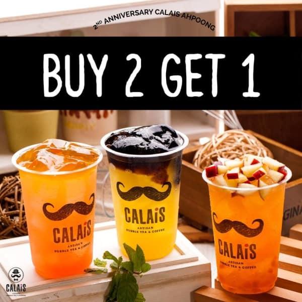 Calais Tea Promo 2nd Anniversary Buy 2 Get 1