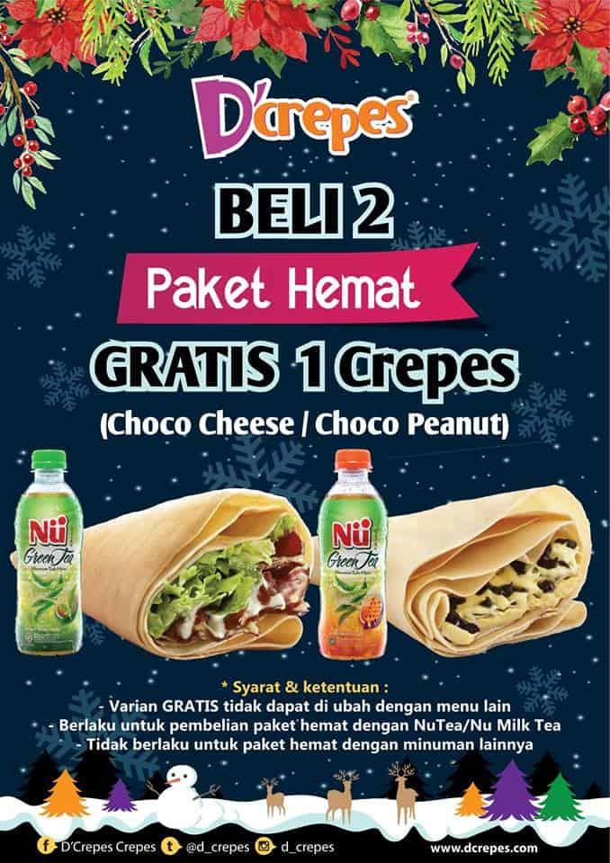 D'crepes Promo Paket Hemat Beli 2 Gratis 1 Crepes