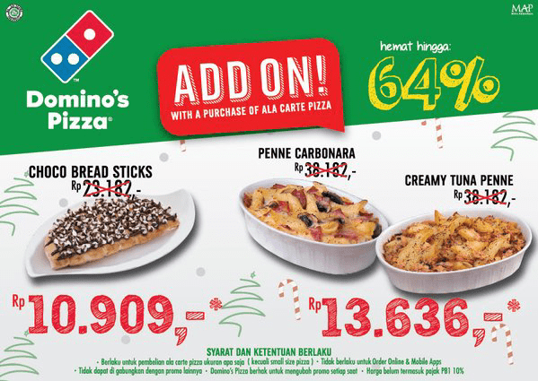 Dominos Pizza Promo Menu Add On Hemat Hingga 64%