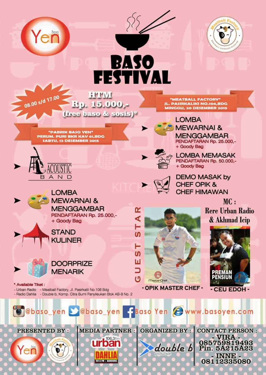Festival Baso 2015 di Bandung