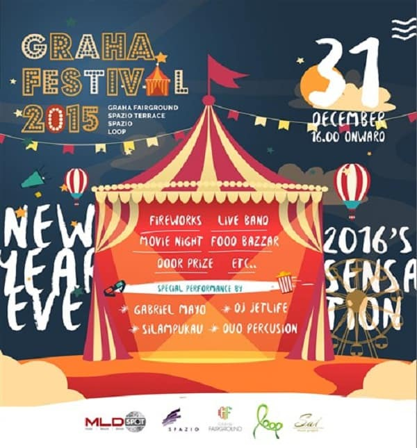 Food Truck dan Food Bazaar di Graha Festival 2015 New Year Eve 2016's Sensation