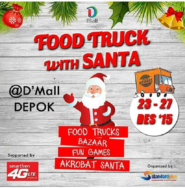 Food Truck with Santa di D'Mall Depok