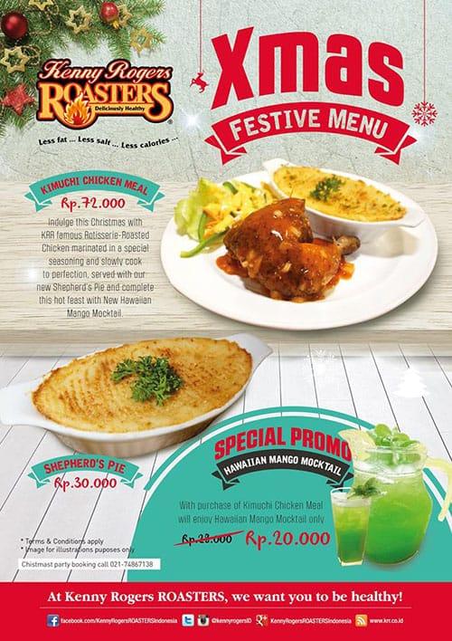 Kenny Rogers Roasters Promo Xmas Festive Menu