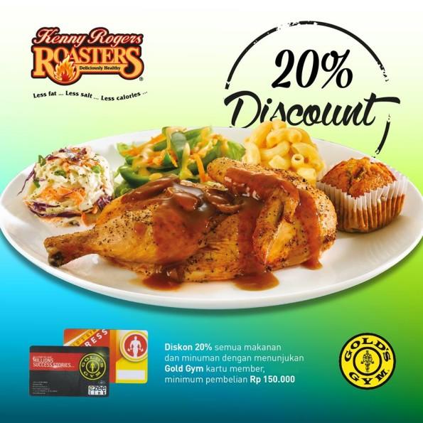Kenny Rogers Roasters Promo Diskon 20% Pakai Gold Gym
