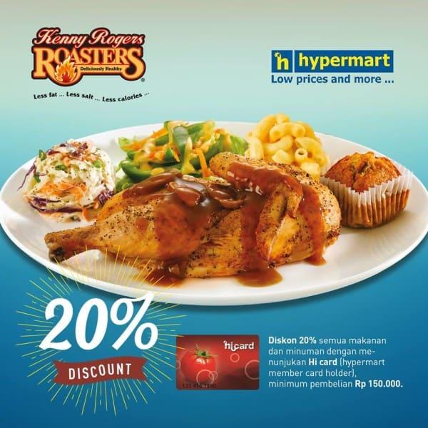 Kenny Rogers Roasters Promo Diskon 20% Pakai HiCard