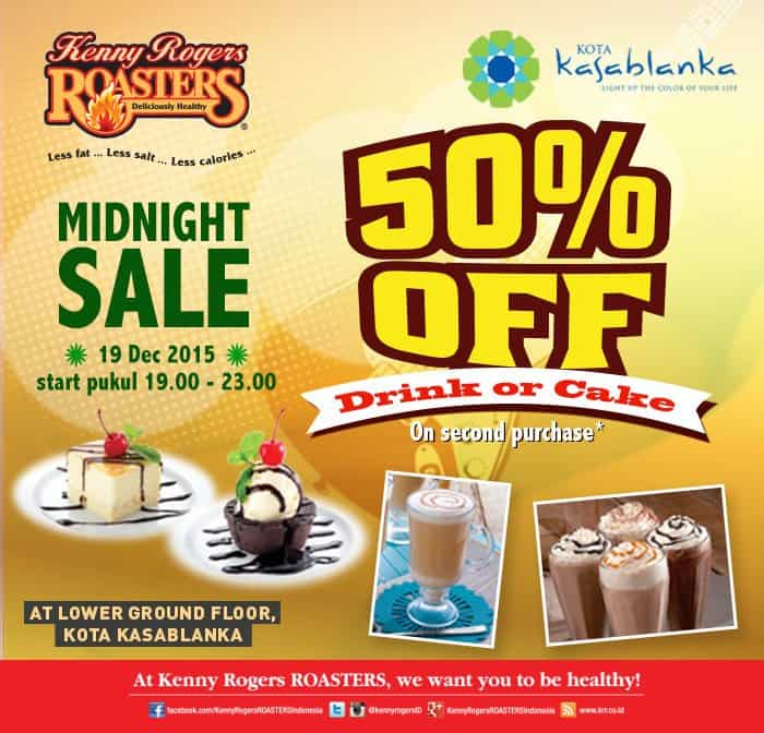 Kenny Rogers Roasters Promo Midnight Sale Diskon 50%