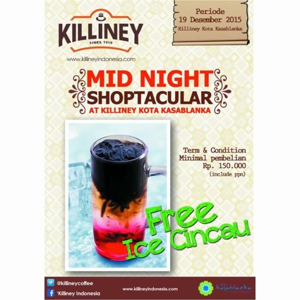 Killiney Promo Mid Night Shoptacular Free Ice Cincau