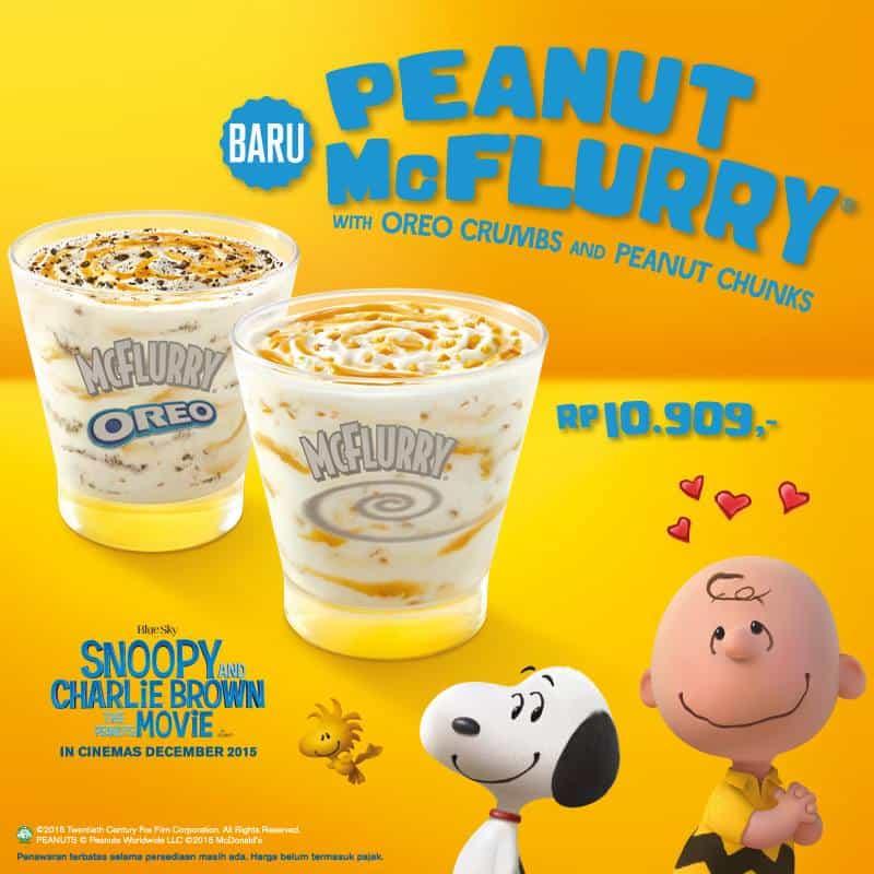 McDonald's Promo Menu Baru Peanut McFlurry Hanya Rp. 10.909,-