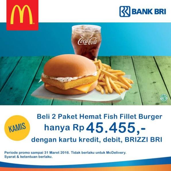 McDonald's Promo Paket Hemat Fish Fillet Burger Hanya Rp. 45.455,-
