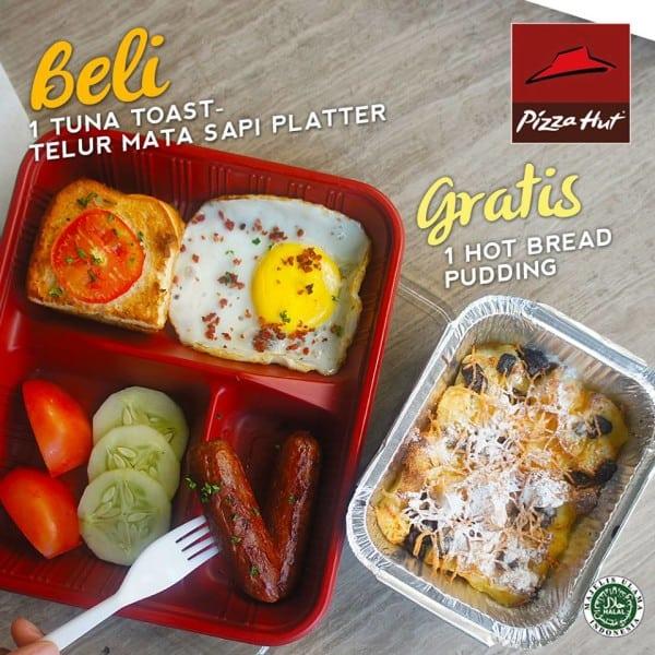 Pizza Hut Promo Breakfast  Gratis Hot Bread Pudding