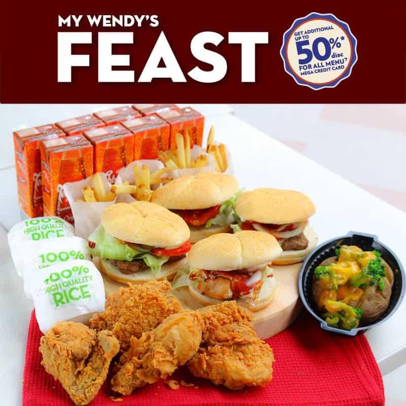 Wendy S Promo Feast Diskon 50 Pakai Mega Credit Card Katalog Kuliner