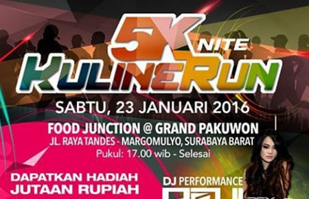 5K Nite KulineRun di Food Junction Graha Pakuwon