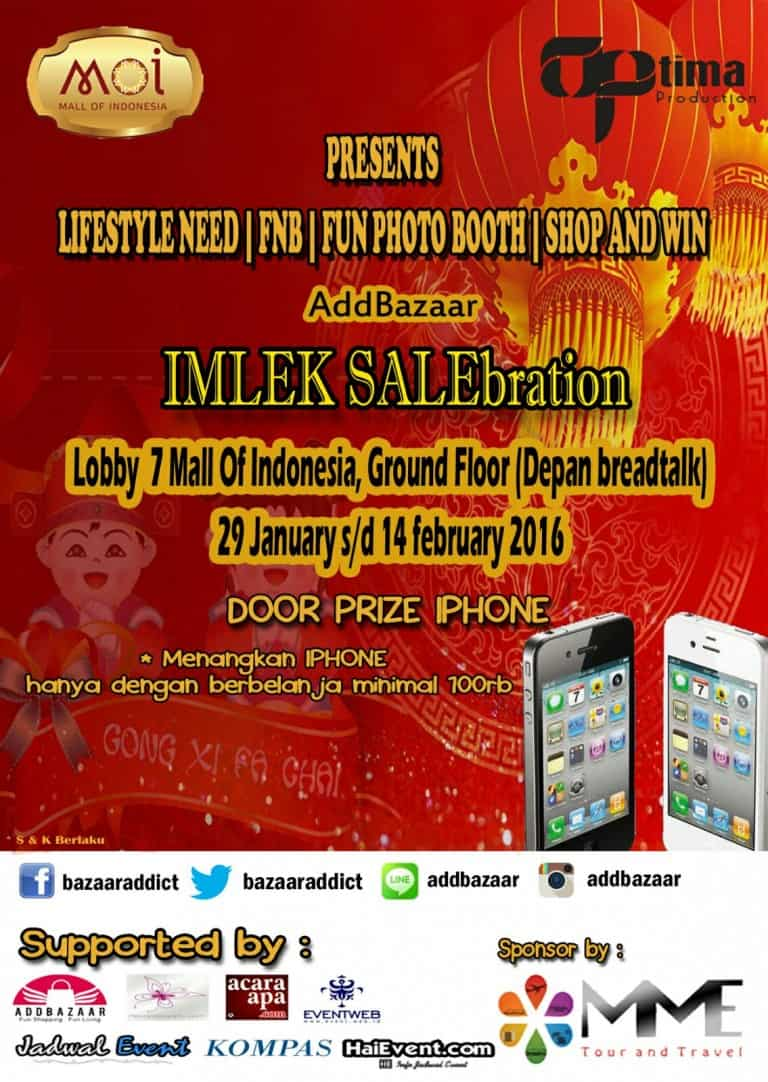 AddBazaar IMLEK SALEbration di Mall of Indonesia