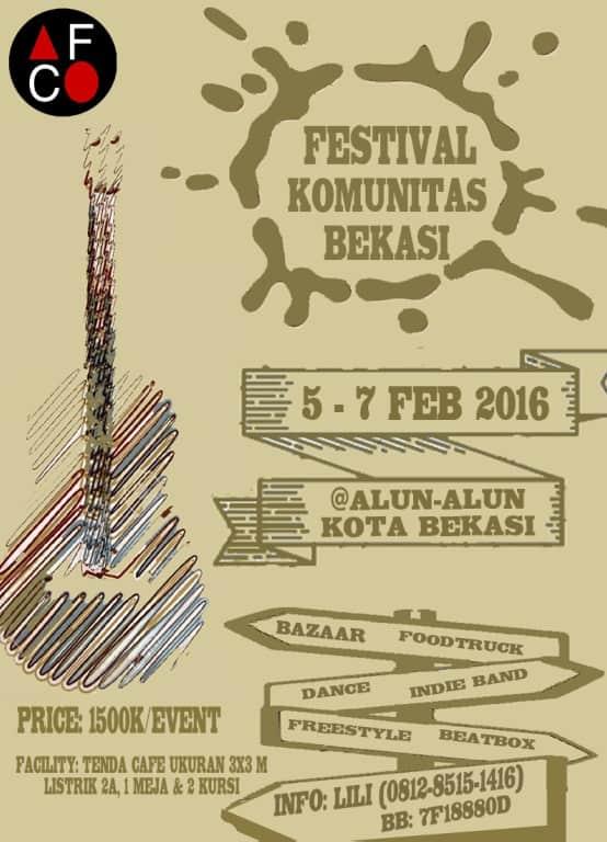 Bazaar dan Foodtruck di Festival Komunitas Bekasi
