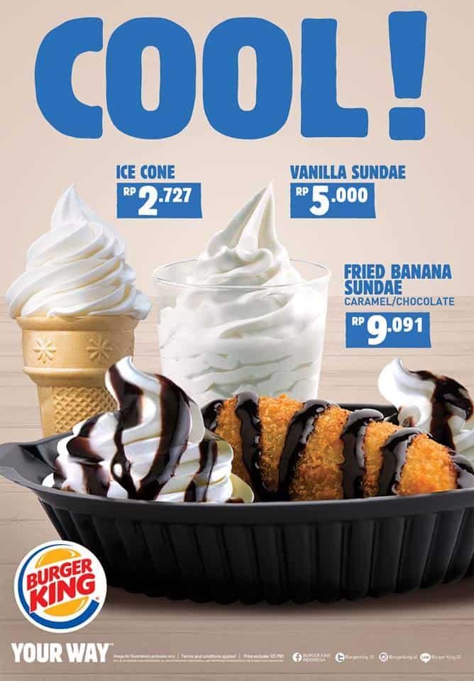 Burger King Promo Dessert Hemat Cool Harga Mulai Rp. 2.727,-