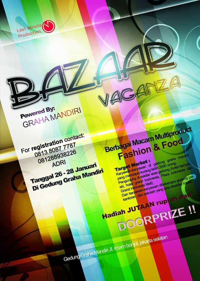 Fashion & Food di Bazaar Vaganza Multiproduct Graha Mandiri