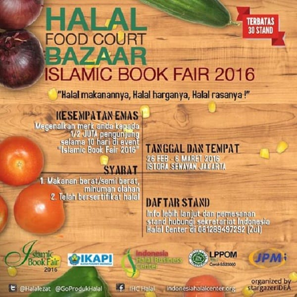 Halal Food Court Bazaar Islamic Book Fair 2016