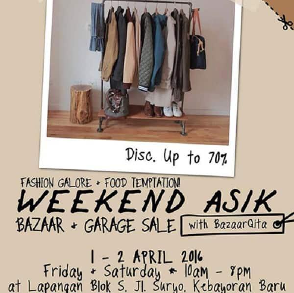 Icip-icip Kuliner di Weekend Asik Bazaar dan Garage Sale Lapangan Blok S