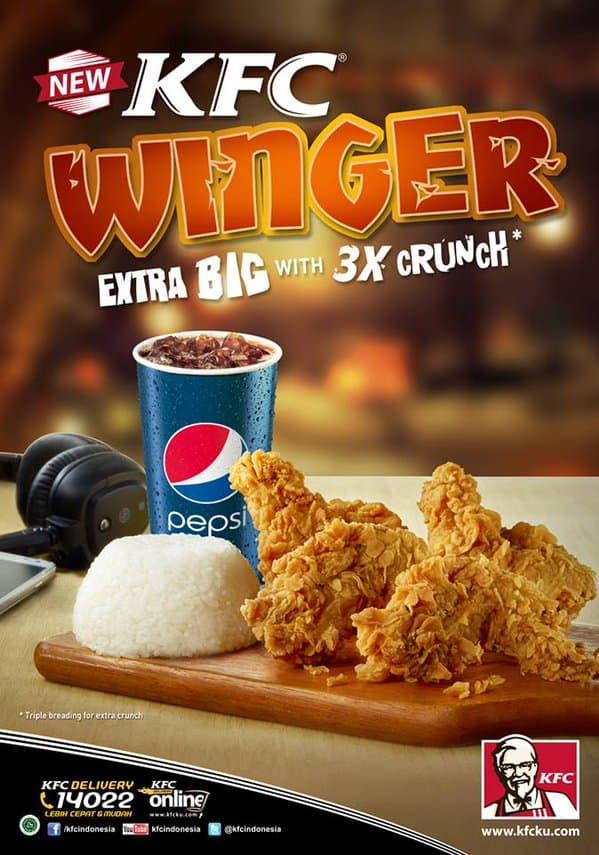 KFC Promo Paket Winger Hanya Rp. 20.000,-