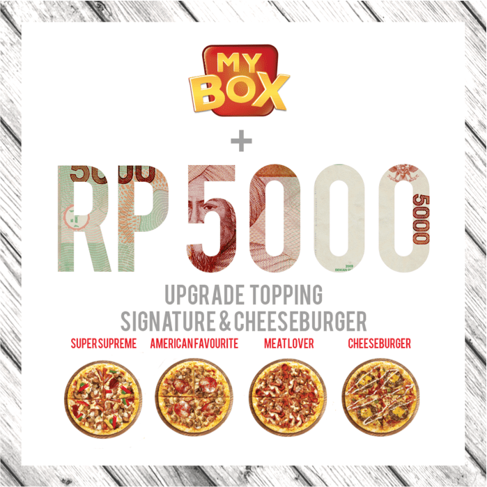 PHD Pizza Hut Promo Spesial Upgrade Topping Hanya Rp. 5.000,-