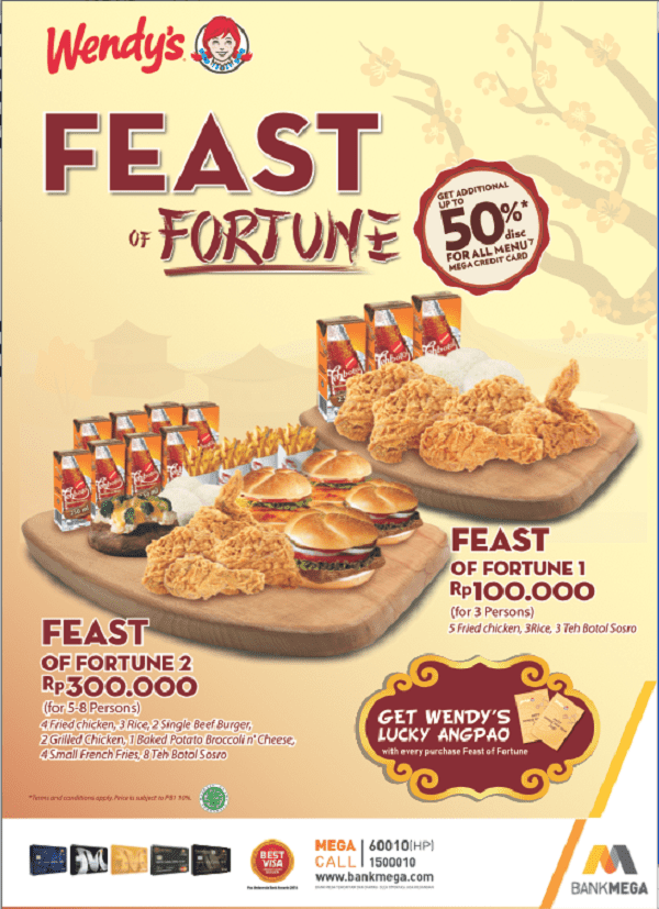 Wendy's Promo Feast of Fortune