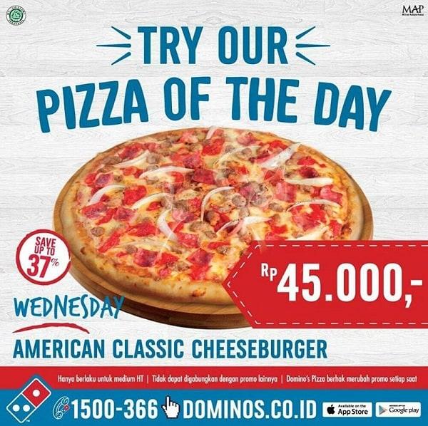 Domino's Pizza Promo American Classic Cheeseburger Hanya Rp. 45.000,-