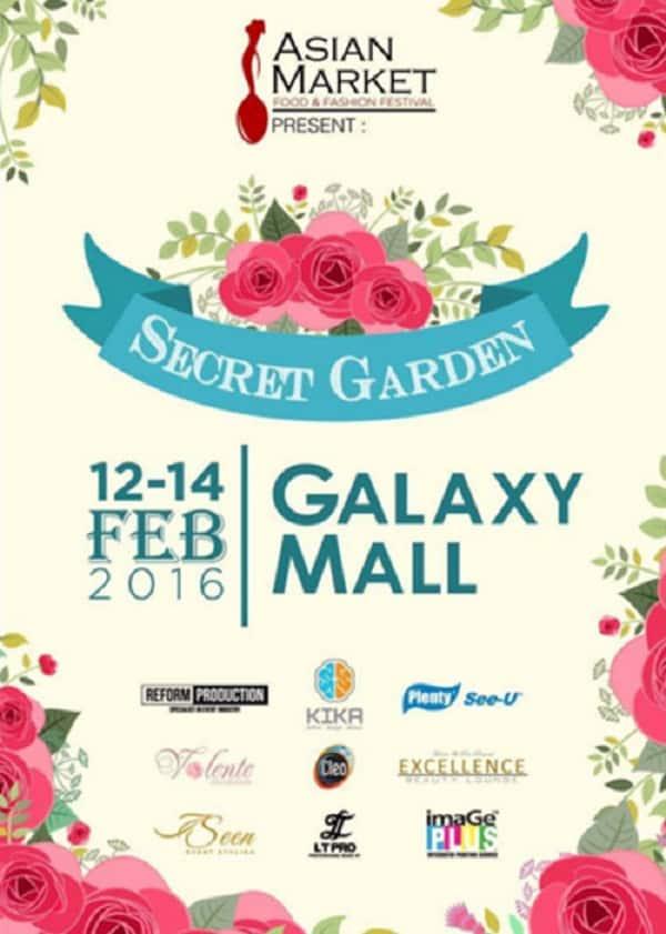 Asian Market Present Secret Garden Bazaar di Galaxy Mall Surabaya