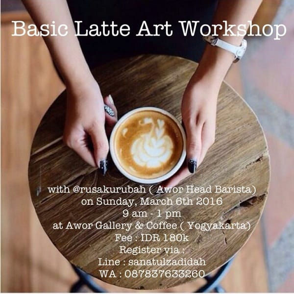 Basic Latte Art Workshop di Yogyakarta