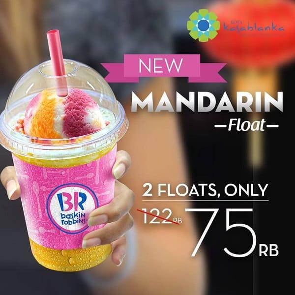 Baskin Robbins Promo Mandarin Float, Beli 2 Hanya Rp. 75.000,-