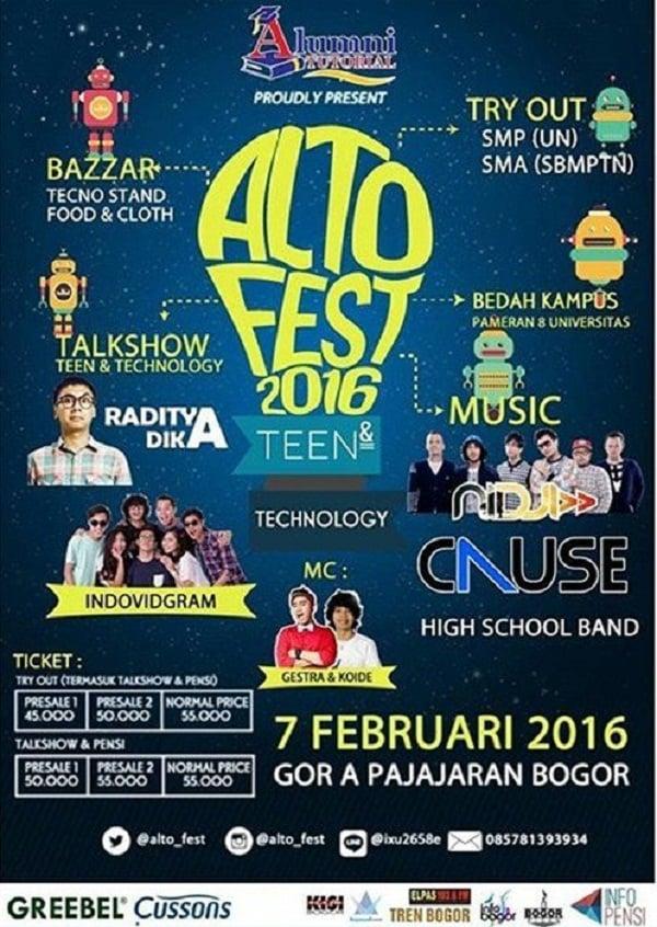 Bazaar Techno Stand Food & Cloth di Alto Fest 2016 Bogor