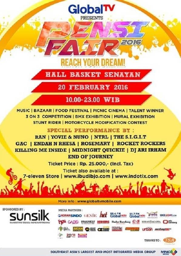 Bazaar dan Food Festival di Pensi Fair 2016 Jakarta