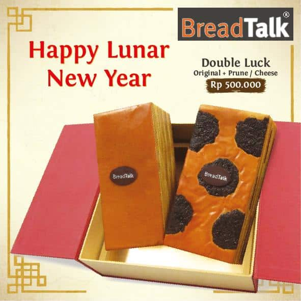BreadTalk Promo Happy Lunar New Year, Double Luck Hanya Rp. 500.000,-