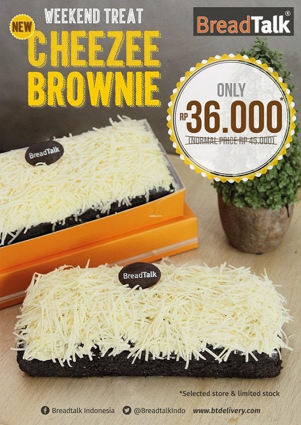 BreadTalk Promo Cheezee Brownie Hanya Rp. 36.000,-