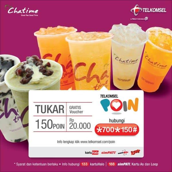 Chatime Telkomsel Promo Special Gratis Voucher Sebesar Rp. 20.000,-