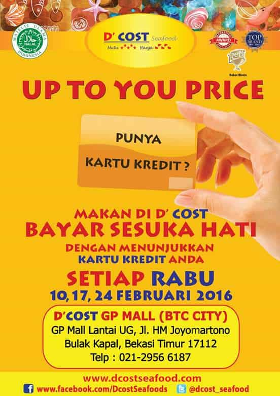D'Cost Seafood Promo Up To You Price di GP Mall