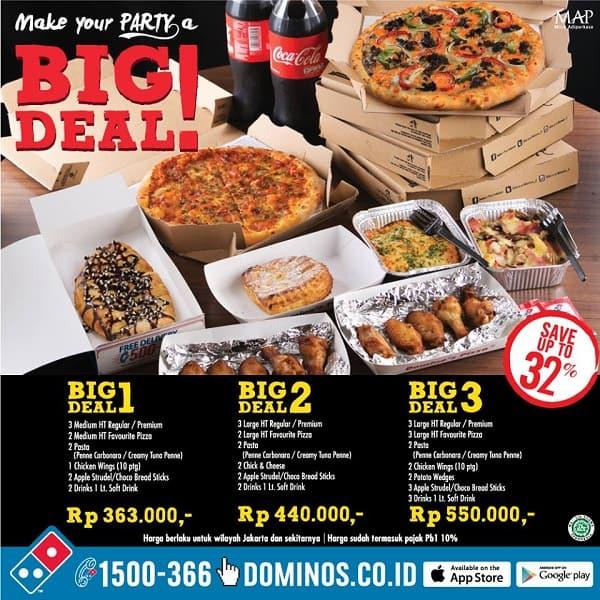 Domino's Pizza Promo BIG Deal Harga Mulai Rp. 363.000,-