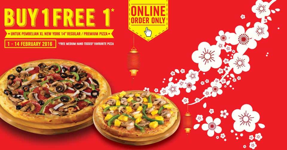 Domino's Pizza Promo Chinese New Year Buy 1 Free 1