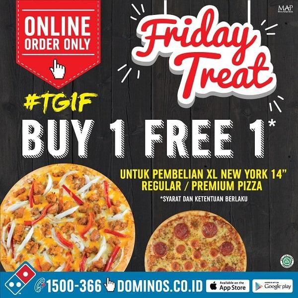 Domino's Pizza Promo Friday Treat Buy 1 Free 1