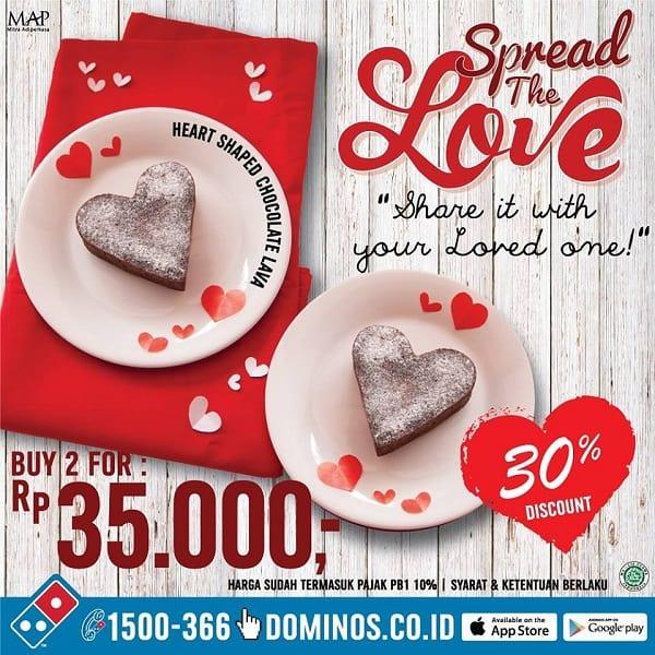 Domino's Pizza Promo Valentine: Beli 2 Choco Lava Hanya Rp. 35.000,-