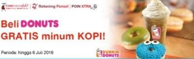 Dunkin Donuts Promo Beli Donat Gratis Minum Kopi