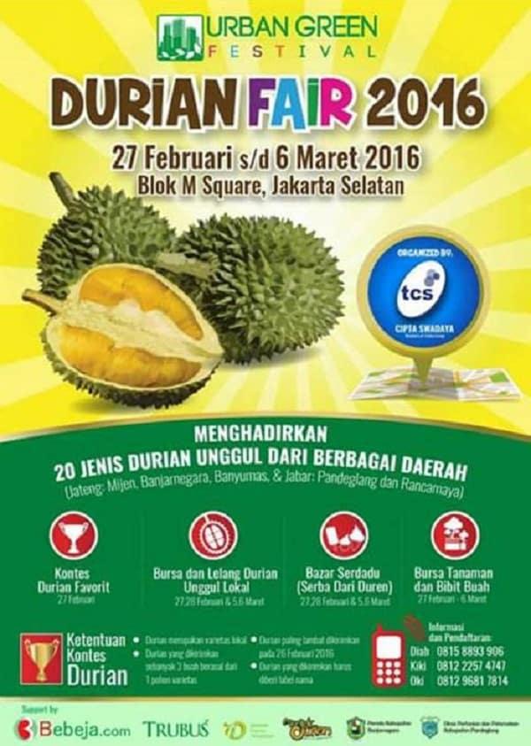 Durian Fair 2016 di Blok M Square