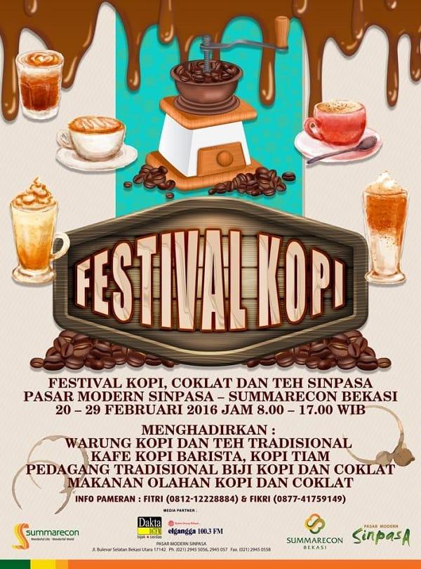 Festival Kopi, Coklat, dan Teh Sinpasa di Summarecon Bekasi