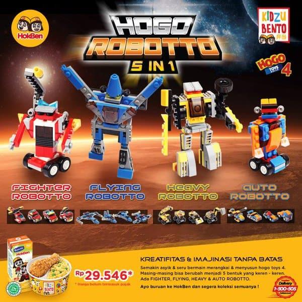 Hoka Hoka Bento Promo Kidzu Bento Berhadiah Langsung Hogo Robotto