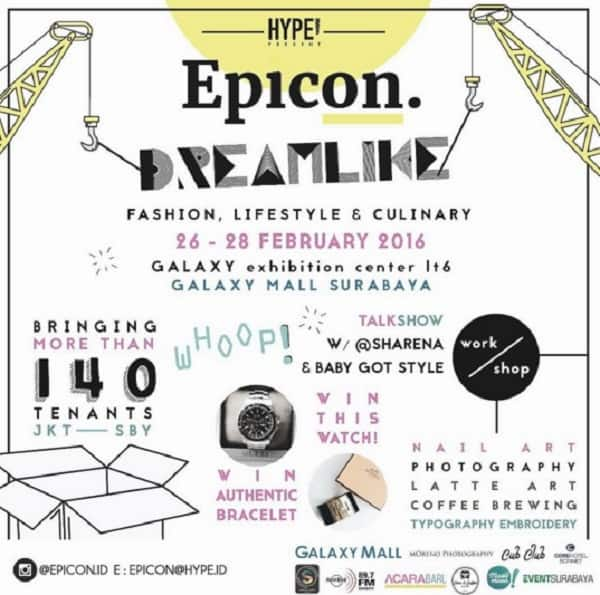Hype Epicon Dreamlike di Galaxy Mall Surabaya