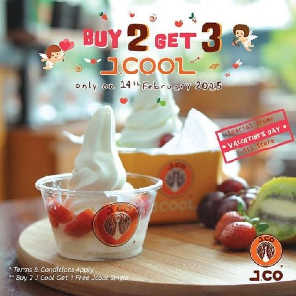 J.Co Promo J.Cool Spesial Valentine Buy 2 Get 3