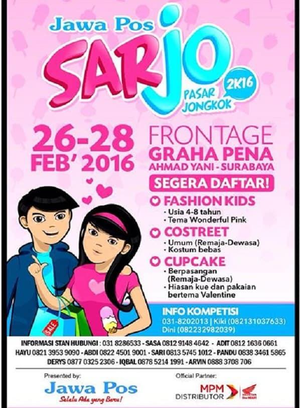 """Jawa Pos Sarjo """"Pasar Jongkok"""" 2K16 di Graha Pena Surabaya"""