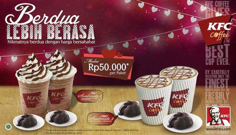 KFC Coffee Promo Paket Soulmate Harga Mulai Rp. 50.000,-