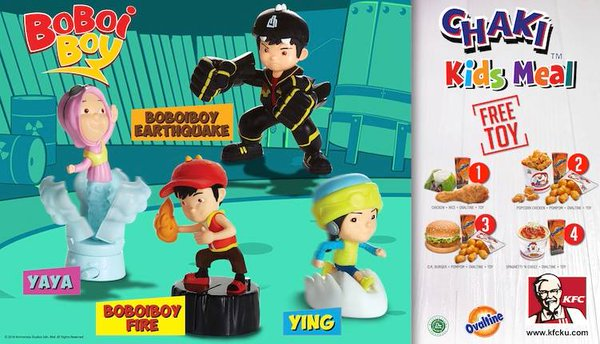 KFC Promo Chaki Kids Meal Free Toy Boboi Boy