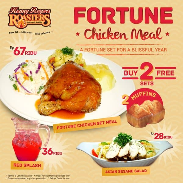 Kenny Rogers Roasters Promo Fortune Chicken Meal Harga Mulai Rp. 28.000,-