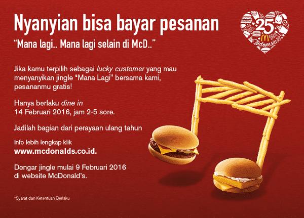 McDonald's Promo Jingle Challenge! Nyanyian Bisa Bayar Pesanan